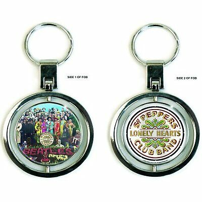 The Beatles Sgt Peppers Lonely Hearts Club Spinning Keychain Keyring Official