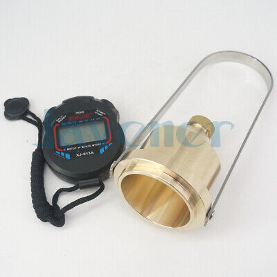Paint Viscosity Cup Viscometer Flow Cup Stopwatch Mixing Thinning Tool 4#