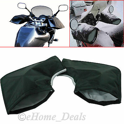 Windproof Waterproof Motorcycle Bike Handlebar Hand Thermal MUFFS Gloves Mitts