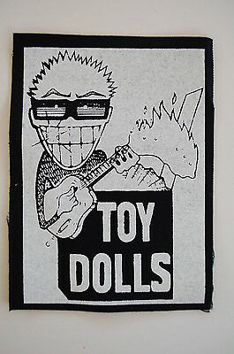 "Toy Dolls Cloth Patch Sew On Badge Adicts Punk Rock Music Approx 5.5""X4"" (CP18)"