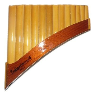Amazing Peruvian Pan Flute Tunable 13 Pipes  From Peru -See Video -Case Included