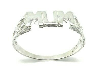 Solid 925 Sterling Silver Mum Ring  Gift Boxed &  Free Post Uk Seller