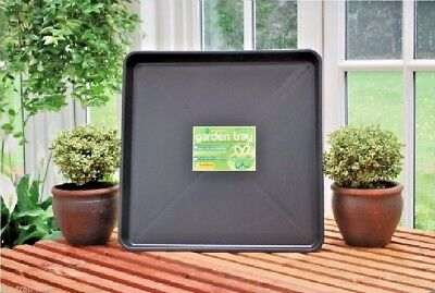 GARLAND square tray LARGE BLACK greenhouse gravel tray PLASTIC by TrapMan UK
