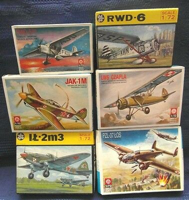 Lot of six aircraft, ZTS 1/72 Model Kit
