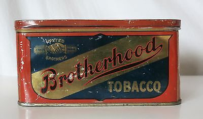 Brotherhood Tobacco Antique Tin, United Brothers