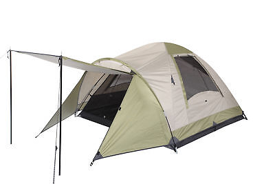 OZtrail Dome Tent Tasman 3 Person Family Cream Blue Camping Hiking
