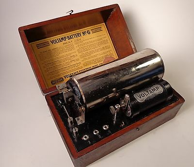 "Voltamp Battery No. 6 ""Majestic"" Antique Electrotherapy Device Philadelphia"