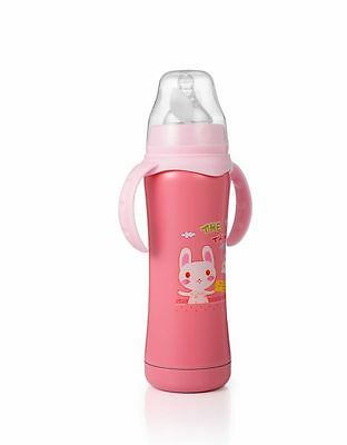 180ML Double-layer Stainless Steel Thermos Bottle Baby Milk Bottle With Handle