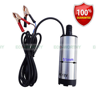 High Quality DC 12V Submersible Transfer Pump Fuel Diesel Water Oil 30L/MIN