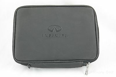 Infiniti Car Owners Manual Black Leather Zipper Case EMPTY New - Old Stock