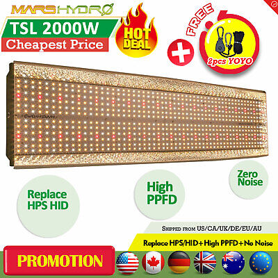 Mars Hydro TSL 2000W LED Grow Lights Full Spectrum Veg Bloom Indoor Plants Lamp