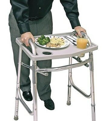 Walker Tray Standard Carry Meal Accessory Craft Mobile Attachment w/ Cup Holder