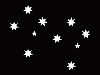 2 x Aussie Southern Cross Stars Car Sticker 5cm