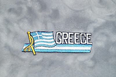 Patch Country Flag Sew On Iron On Jacket Shirt or Pants Greece Color