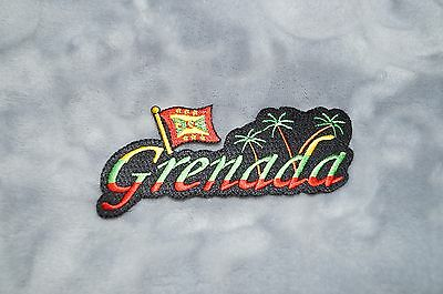Patch Country Flag Sew On Iron On Jacket Shirt or Pants Grenada Color
