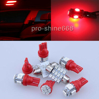10PCS New SMD LED Lights Interior Package Kit For GMC Sierra 1500 99-2006 Red