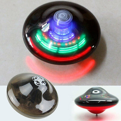 Kids UFO Spinning Top Light Up Flashing Laser Music Sound Tops Electronic Toy BG