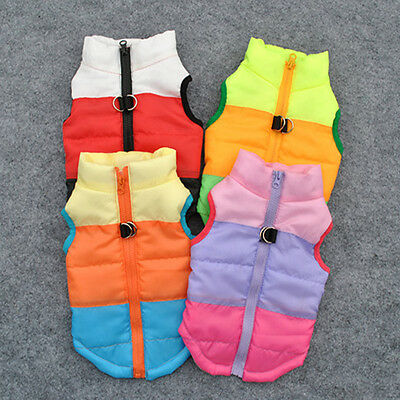 Pet Cat Dog Warm Soft Padded Vest Harness Puppy Small Medium Dog Coat Clothes