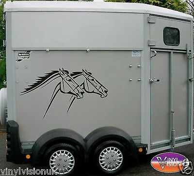 Horsebox/Trailer/car/wall Horse Pony Stickers Decals Graphics Racing Racehorse