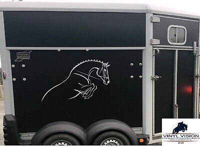 Horsebox/Lorry/Trailer/Car/Wall Horse pony Stickers Decals Graphics Show Jumping