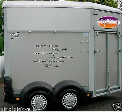 Horsebox/Trailer/car/wall Horse Stickers Decals Graphics ShowJumping, Eventing