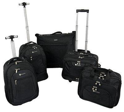Wheeled Laptop Briefcase Cabin Bag Strong Business Trolley Case Hand Luggage