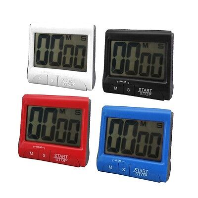 Large LCD Digital Kitchen Timer Count-Down Up Clock Loud Alarm Red IG
