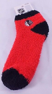 Chicago Blackhawks Nhl Soft Sleep Socks Osfa Red/black  New F-98