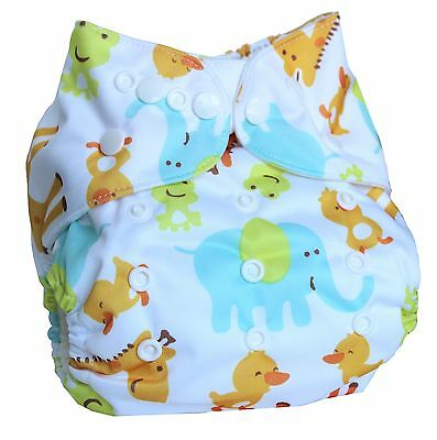 Ninja Baby Organic Bamboo Cloth Diaper with Bamboo Insert (AI2) - Safari