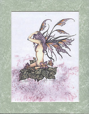 Amy Brown - Shy Violet - Matted Mini Print - VERY RARE