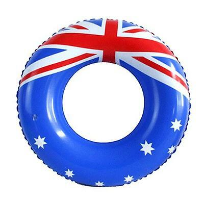 New Australia Day Aussie Swim Ring Inflatable Tube Pool Beach Fun Toy 55cm Ring