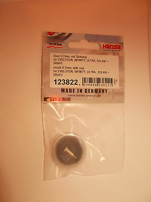 Harder & Steenbeck  Nozzle 0.2mm with seal. All models, 123822