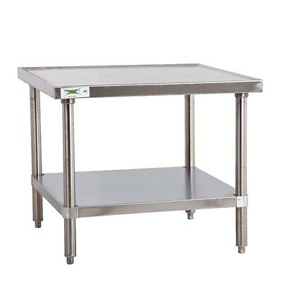 """Regency 16 Gauge 30"""" x 30"""" All Stainless Steel Mixer Table 600MTS3030S"""