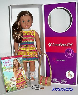 "American Girl Lea Clark  - Doll Of The Year 2016  - 18"" - New In Box"