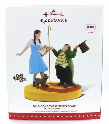 """New! 2015 Hallmark Wizard Of Oz """"ding-Dong The Witch Is Dead"""" Magic Ornament"""