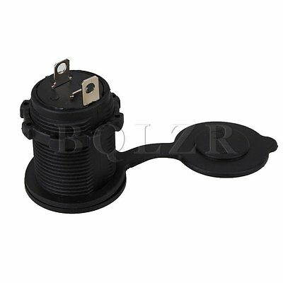 12V Car Marine Power Outlet Plug Cigarette Lighter Socket Panel Mount Outlet
