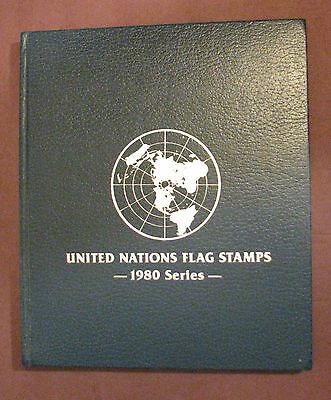 UN United Nations Flag Stamps Book 1980 Series Complete