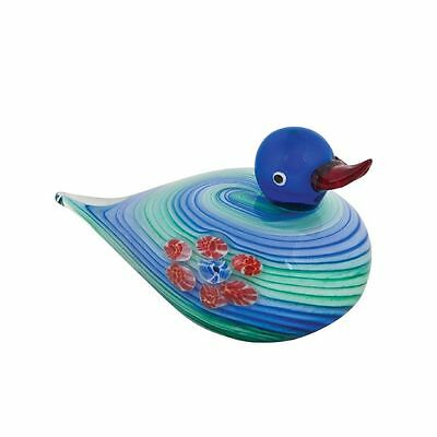 Coloured  Glass Duck180mm Long