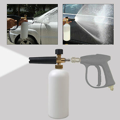 Pressure Washer Jet Adjustable Brass Snow Foam Lance Car Soap 1L Car Wash Gun