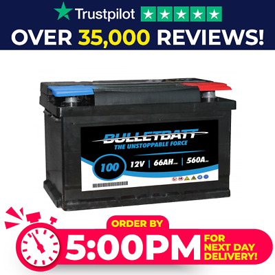BulletBatt Heavy Duty 12V Car Van Battery Type 100 / 096 - 4 Year Guarantee