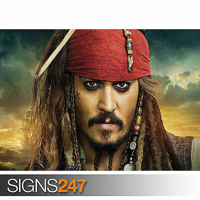 A0 A1 A2 A3 A4 Sizes Pirates of the Caribbean Jack Sparrow Giant Poster