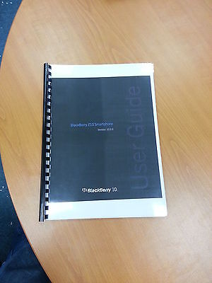 Blackberry Z10 Smartphone Ver 10.0 Fully Printed Instruction Manual  75 Pages A5