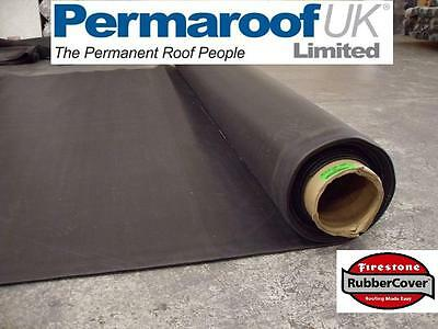 Firestone Rubber Roofing EPDM 1.14mm Rubbercover Regular Flat Roof Shed Membrane