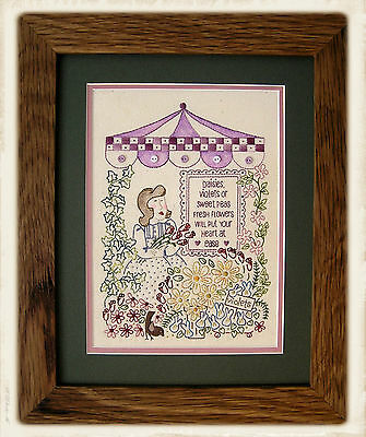 THE FLOWER MARKET || Stitchery Pattern || UP iN ANNiE'S ROOM!