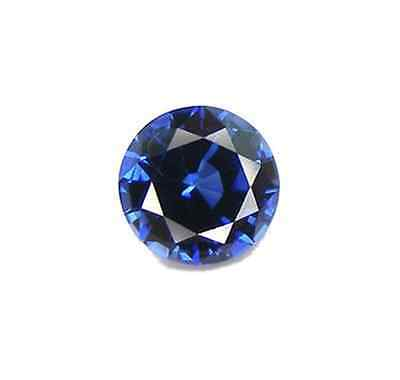 Cubic Zirconia Blue Sapphire Round AAA Rated CZ Loose Stones (1mm - 15mm)