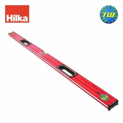 Hilka 48in 120cm Double Milled Box Spirit Level with 3x Vials & V Groove 1200mm