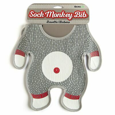 Sock Monkey Childrens Baby Feeding Bib Apron by Gama Go