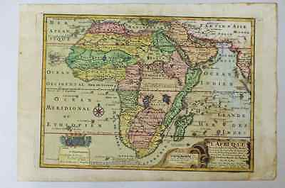 1717 African Continent Old Map / N.DEFFERT / very rare !!