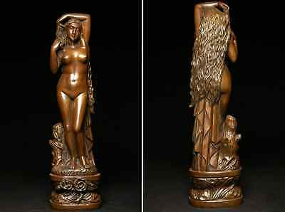 Antique Beautiful Naked Woman / Bronze /  size w12 h44 [ cm ] 3.36kg