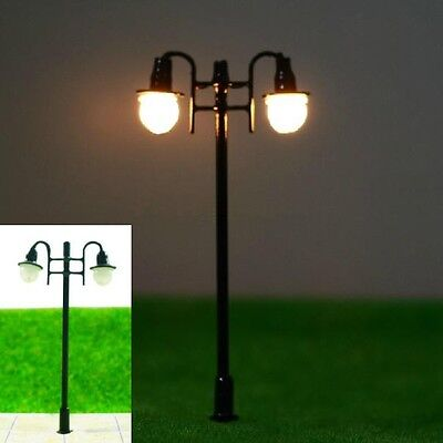 S226-10 Pieces Lamps Streetlamp 2-flame 5,5cm nostalgic Parking lights